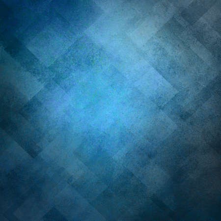distressed background: abstract blue background image pattern design on old vintage grunge background texture, blue paper diagonal block pattern with geometric shapes and line design elements, luxury background for web ad Stock Photo