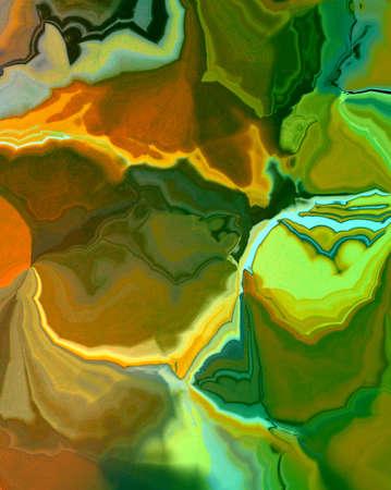web side: abstracto fondo verde jaspeado con dise�o anaranjado colores del oro en fondo brillante colorido piedra �gata brillante o ilustraci�n roca para la barra lateral, banner, cartel, folleto de publicidad o una plantilla de dise�o web