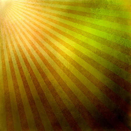 orange gold background retro striped layout, sunburst abstract background texture pattern, vintage grunge background sunrise design, old black border, bright colorful fun paper, green yellow red color Stock Photo - 17096608