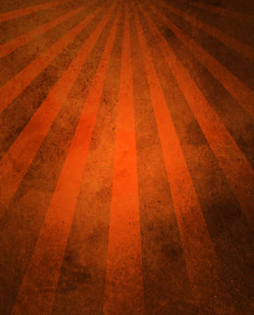 abstract orange background retro striped layout with old distressed vintage grunge background texture pattern for web design side bar banner or scrapbook page for birthday celebration or festivities Stock Photo - 17231831
