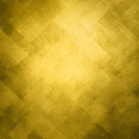 abstract gold background image pattern design on old vintage grunge background texture, diagonal block pattern with geometric shapes and line design elements, luxury gold Christmas paper background Stock Photo - 17231830