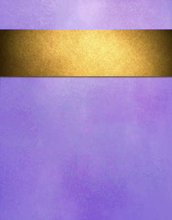 gold ribbon: abstract purple background gold ribbon  Stock Photo