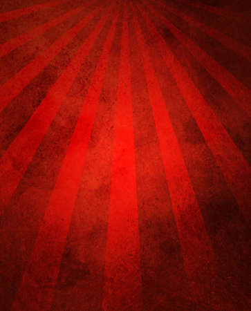 radial: abstract red background retro striped layout with old distressed vintage grunge background texture pattern for web design side bar banner or scrapbook page for birthday celebration or festivities