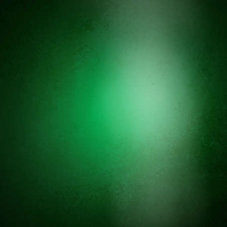 solid color: abstract green background Christmas color; smooth background texture design; white spotlight glossy shiny blurred light image; rich luxury background brochure; glossy vintage grunge background texture Stock Photo