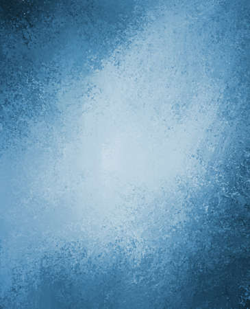 abstract blue background design layout or old blue paper vintage grunge background texture, white center with darker grungy border frame, brochure ad, rough texture design like clouds in stormy sky Stock Photo - 17961016