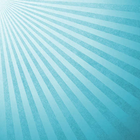 retro blue background layout design with striped pattern angle from top corner like sun beams or rays shining down from heaven or sky, or star burst design, light blue abstract background photo