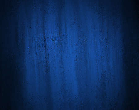 dark blue paper or abstract blue background has bright center spotlight with vintage grunge background texture and black grungy border frame for web layout design of blue graphic art wallpaper decor Stock Photo - 18174652