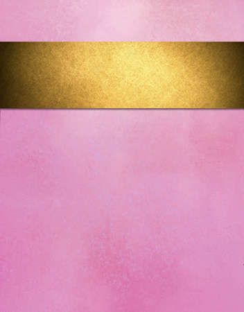 pastel pink background with gold ribbon design Stock Photo - 18414267