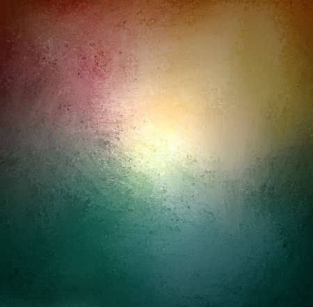 plain: abstract blue green background with beige orange white and pink coloring Stock Photo