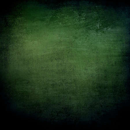 abstract green background or black background with lots of rough distressed vintage grunge background texture design, elegant blank background, black border edges with center spotlight text area photo