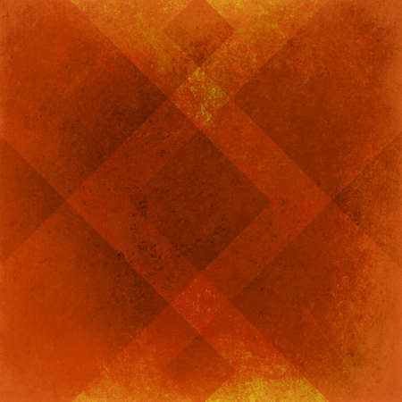 classy background: abstract orange background geometric design for fall autumn colored brochures or Thanksgiving backgrounds with classy shapes and lines forming wallpaper pattern has vintage grunge background texture