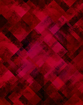 rough diamond: abstract red background black geometric design of diamond square shapes in random pattern of glittery shiny blurred light shimmer background for Christmas or New years Eve celebration brochure paper