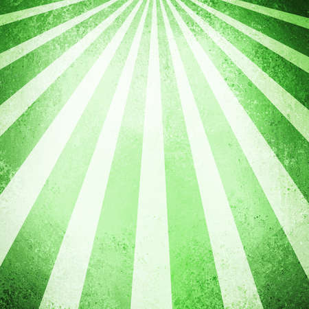 carnival border: abstract striped background pattern design, dark and mint green background, retro style sunburst or sun beam shaft layout, vintage grunge background texture, grungy sponge colors dark and light green Stock Photo