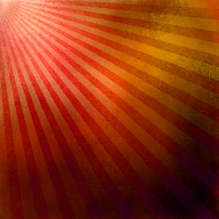 red gold background retro striped layout, sunburst abstract background texture pattern, vintage grunge background sunrise design, old black border, bright colorful fun paper, orange yellow color Stock Photo - 18733179