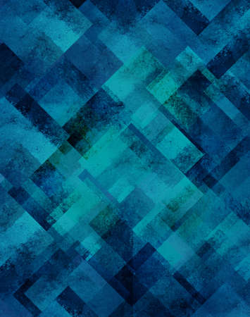 abstract blue background geometric design of diamond square shapes in random pattern with vintage grunge background texture with blurred light blue background celebration brochure template for web photo