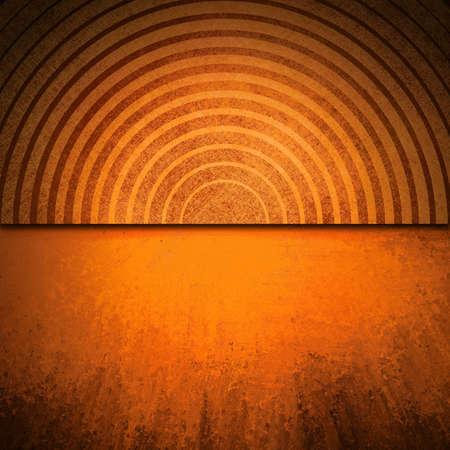 Abstrakte orange Hintergrund Kupfer-Design-Element schwarze Linie Schichten für Website-Upload-Vorlage Web-Design oder Broschüre Anzeige, dramatische Vintage Grunge-Hintergrund Textur Farben, grungy schwarzen Rand Rand Standard-Bild - 18916050