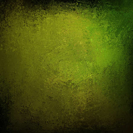 abstract green background with black border on vintage grunge background texture dark  layout design of olive green background on light distressed old canvas for web template background or grungy wall Stock Photo - 18916096