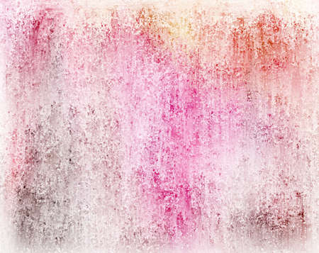 pink wall paper: abstract colorful background with white vintage grunge background texture faded with soft blotchy color splashes of blue purple orange and pink Stock Photo