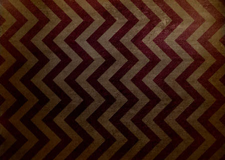 abstract chevron background zigzag pattern, zig zag stripe lines in brown beige background on vintage grunge background texture canvas, old worn antique abstract background illustration for web design Stock Illustration - 19281152