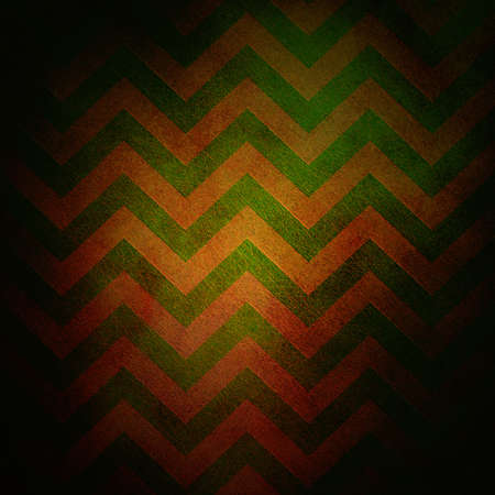abstract chevron background zigzag pattern stripe lines in red green background on vintage grunge background texture canvas; old worn antique abstract background black border for web design banner photo