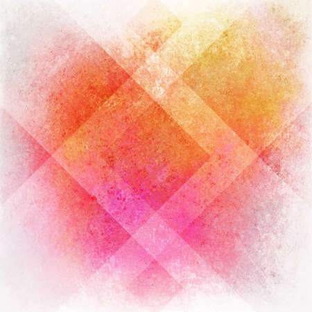 abstract pink background or orange yellow background on white, old warm stain spot vintage grunge background texture on colorful plaid art background block layout design, multicolor background paper Stock Photo - 19412670