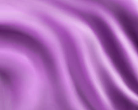 abstract purple cloth background or silk fabric illustration of wavy flowing folds of dark waves in smooth satiny looking material design of curve and texture surface, elegant light silky background