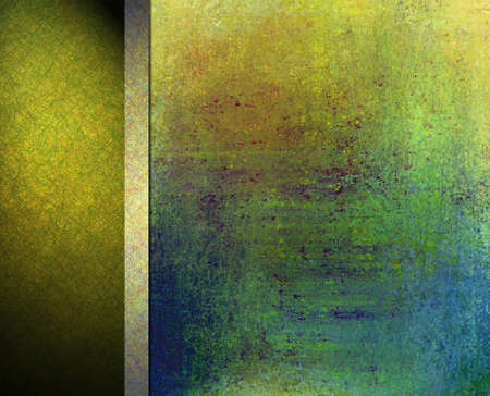 abstract colorful background layout design, vintage grunge background texture, gold green blue background, orange red center, gold ribbon, green black banner background side bar or banner web template Stock Photo - 19412706