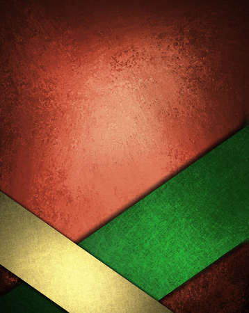 Christmas background red green gold ribbon design layout photo