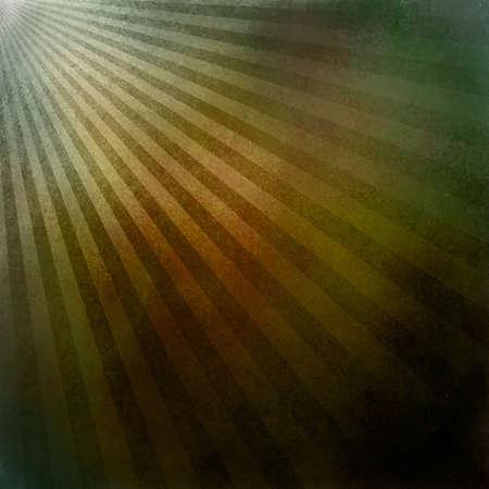 Multicolor abstrakten Hintergrund Retro-gestreiften Layout, Sunburst Hintergrund Textur-Muster, Vintage Grunge-Hintergrund sunrise design, grüne Gold Hintergrund, braun orange rot Färbung, warme Erdtöne Standard-Bild - 19577512