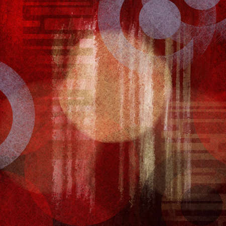 random abstract background for graphic art use in brochure or web template with faded old vintage grunge background texture and shapes and design elements, grungy red background with lines and circles photo