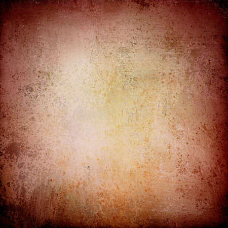abstract brown background pink color, elegant warm background vintage grunge background texture white center, pastel pink burgundy brown paper with orange stain spatter or color splash, old background Stock Photo - 19744765