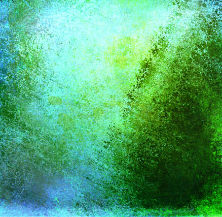 abstract green background or sky blue background with lots of rough distressed vintage grunge background texture design, elegant blank background, old border edges with messy grungy center Stock Photo - 19896726