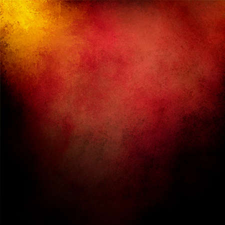 abstract red background and gold corner, vintage grunge background texture design with spotlight of hot orange background, pink red colors, warm background tone for graphic art use in brochure or web  Stock Photo - 19896735