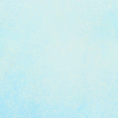 pale sky blue background with soft pastel vintage background grunge texture and light solid design white background, cool plain wall or paper, old blue painted canvas for scrapbook parchment label Foto de archivo