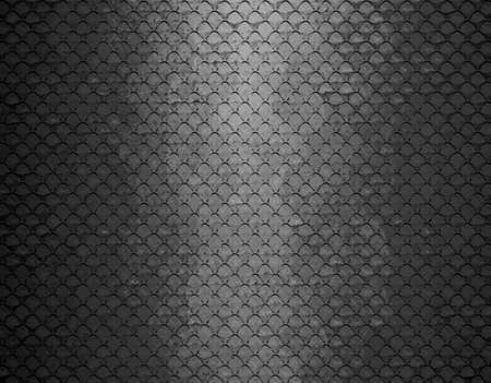 abstract grid black background texture pattern design, mesh grill background circle colored glossy shape metallic metal grill illustration, gray black white background geometric structures, graphic art  Stock Illustration - 20165582