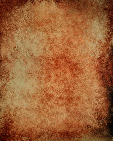 abstract brown background black edges, vintage grunge background texture design, elegant antique painted wall illustration, old brown paper red white background template, aged parchment or manuscript Stock Illustration - 20165588