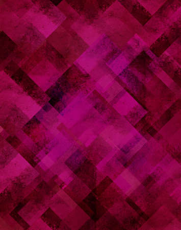 abstract pink background geometric design of diamond square shapes in random pattern photo