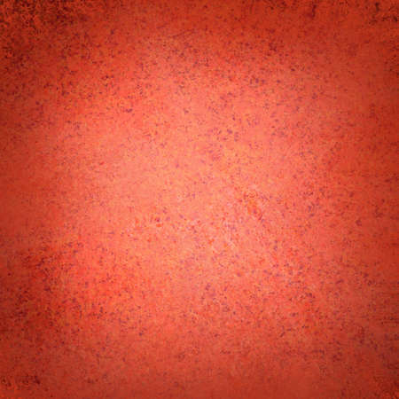 solid color: red background vintage grunge texture with dark border, red Chrismtas background Stock Photo