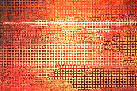 metal grid: abstract grid orange background  rough distressed vintage grunge background texture pattern  orange red background  web design graphic image  brochure background  techno urban modern art style background ad