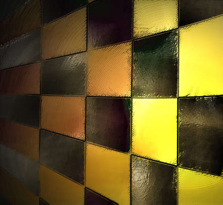 abstract yellow background black checkered pattern, checkerboard, race car flag, block wall background light, vintage grunge background texture design, website template background, gold orange squares Stock Photo - 21054552