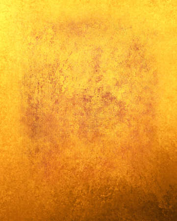 hot fiery orange yellow background, abstract gold frame vintage grunge background texture sponge border, brochure layout design elegant fall or autumn background bright colorful background website app photo