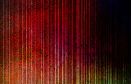 abstract red background on black, old grungy blue color spots and stain design on vertical stripe line pattern, vintage grunge background texture for distressed antique web banner, header or side bar  photo
