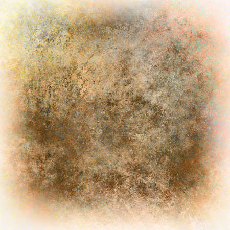 abstract brown background distressed old vintage grunge background texture aged worn sepia colored background, faded white edged border, ancient paper parchment illustration,  graphic art use website Zdjęcie Seryjne