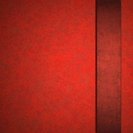 abstract red background luxury Christmas elegant layout with rich dark red color paper cool red ribbon, has copyspace vintage grunge background texture sponge detail for website template or brochure photo