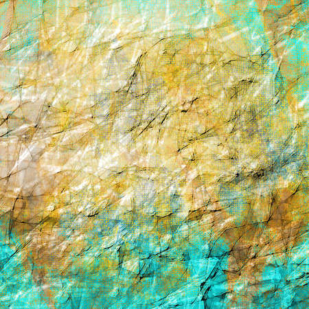 patina: old abstract texture background paper, wrinkled crackled texture worn aged brown blue background abstract sky blue vintage grunge background texture, rough canvas paint with scratches and line designs Stock Photo