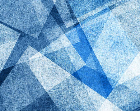 abstract blue background with white parchment paper geometric shapes, background texture, linen canvas style, background for graphic designers, website template background, modern contemporary art  Stock Photo - 21732799