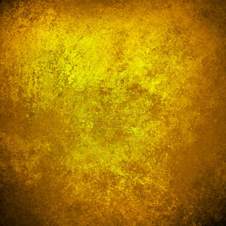 abstract gold background yellow warm colors black corners vintage grunge background texture rough distressed sponge design texture, yellow brochure paper, web template background paper, gold luxury Stock Photo - 21732793