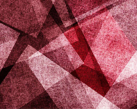 red wall: red abstract background art for graphic designers, modern contemporary background of geometric triangles shape layers, red white Christmas background color, frosty white parchment texture linen canvas Stock Photo
