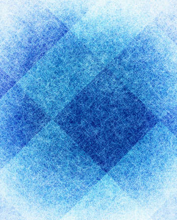 diamond texture: abstract blue background white modern art design layout, artistic checkered background geometric shape diamond box block squares, vintage grunge background texture website design or brochure poster ad Stock Photo