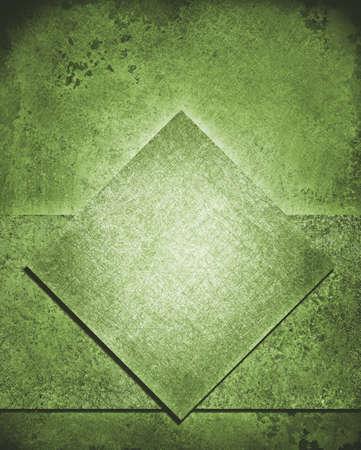 層状正方形のダイヤモンドと抽象的な背景が緑レイアウト デザインとビンテージ グランジ背景テクスチャ、鈍い緑色レトロ塗装、緑のクリスマス背 写真素材